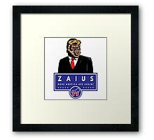Vote Zaius Framed Print