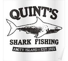Quint's Shark Fishing Poster
