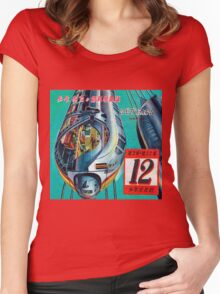 Retro Japanese Future  Women's Fitted Scoop T-Shirt