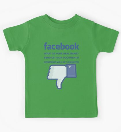 Facebook - WHAT IS YOUR REAL NAME? Kids Tee