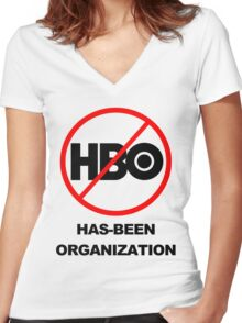 Game of Thrones - GONE! Thanks HBO... Women's Fitted V-Neck T-Shirt