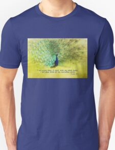 Peacock with verse Unisex T-Shirt