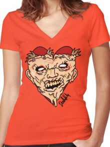 texas chainsaw massacre Women's Fitted V-Neck T-Shirt