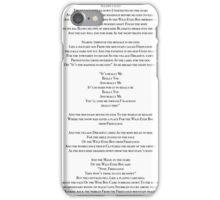Wild Eyed Boy From Freecloud Lyrics iPhone Case/Skin