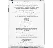 Wild Eyed Boy From Freecloud Lyrics iPad Case/Skin