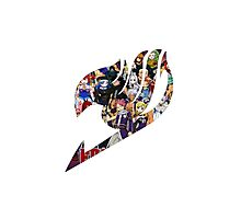 Fairy Tail GMG Characters Logo Photographic Print
