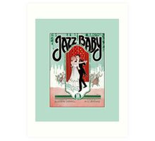 Jazz Baby 1920s jazz age vintage sheet music cover Art Print
