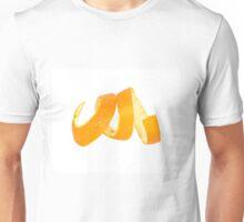 Organic orange peel separated on white background Unisex T-Shirt