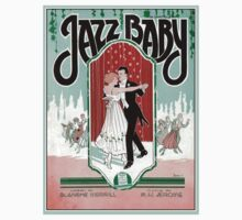 Jazz Baby 1920s jazz age vintage sheet music cover One Piece - Short Sleeve