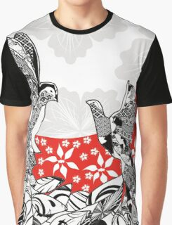 Birds Flowers and the Moon Graphic T-Shirt