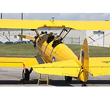 Boeing Stearman PT-27 Kadet single engine trainer back view cockpits and tail. Photographic Print