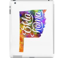 Oklahoma US State in watercolor text cut out iPad Case/Skin