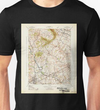 USGS TOPO Map New Jersey NJ Flemington 255046 1943 31680 Unisex T-Shirt