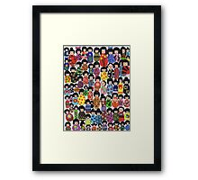 Kokeshi Karnival Framed Print