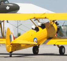 Boeing Stearman PT-27 Kadet rolling to start line. Sticker