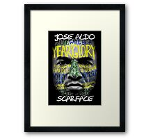 Jose Aldo - Scarface Framed Print