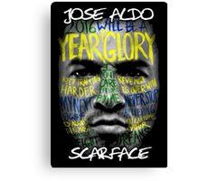 Jose Aldo - Scarface Canvas Print