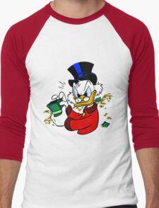 Scrooge McDuck Men's Baseball ¾ T-Shirt