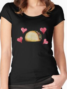 Taco lover Women's Fitted Scoop T-Shirt