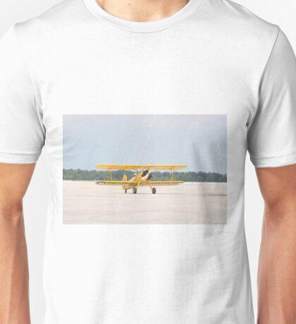 Single Engine Trainer Boeing Stearman PT-27 Kadet returning from flight. Unisex T-Shirt
