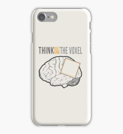 Think Outside the Voxel iPhone Case/Skin