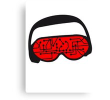 music party dj disco party headphones mischpult glasses technology sunglasses cool sunglasses Canvas Print