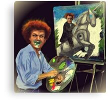 Steve Brule paints Canvas Print