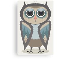 FEATHERED OWL Canvas Print