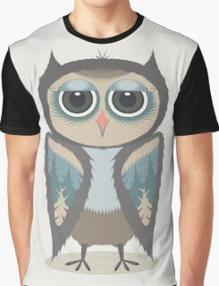 FEATHERED OWL Graphic T-Shirt