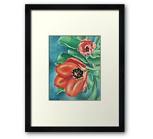 Red Tulips Painting Framed Print