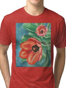 Red Tulips Painting Tri-blend T-Shirt