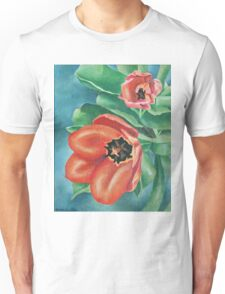 Red Tulips Painting Unisex T-Shirt