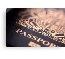British Passport Canvas Print