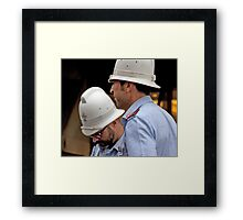 White Hat Teams Framed Print