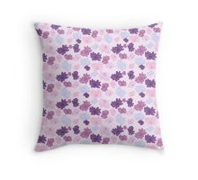 Flowers in purple...  Throw Pillow