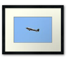 Two engines transport airplane Douglas DC-3 Dakota(C-47) the working hors of WWII in the air. Framed Print