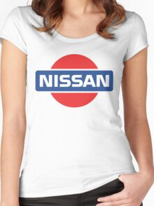 Retro Nissan Logo Women's Fitted Scoop T-Shirt