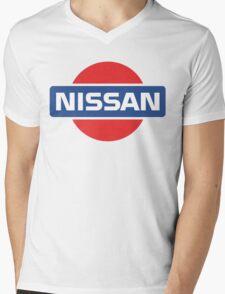 Retro Nissan Logo Mens V-Neck T-Shirt