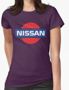 Retro Nissan Logo Womens Fitted T-Shirt