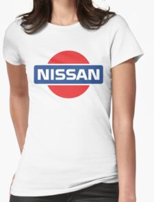 Retro Nissan Logo Womens Fitted T-Shirt
