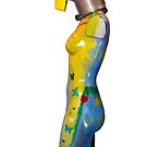 painted female mannequin torso side by morrbyte