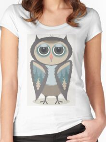 FEATHERED OWL Women's Fitted Scoop T-Shirt