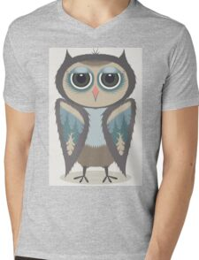 FEATHERED OWL Mens V-Neck T-Shirt