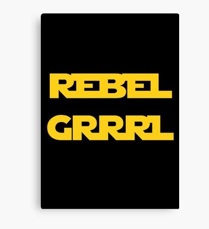 REBEL GIRL GRRRL PRINCESS LEIA STAR WARS Canvas Print