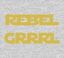 REBEL GIRL GRRRL PRINCESS LEIA STAR WARS Baby Tee