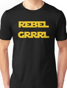 REBEL GIRL GRRRL PRINCESS LEIA STAR WARS Unisex T-Shirt