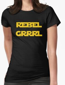 REBEL GIRL GRRRL PRINCESS LEIA STAR WARS Womens Fitted T-Shirt