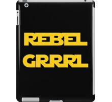 REBEL GIRL GRRRL PRINCESS LEIA STAR WARS iPad Case/Skin