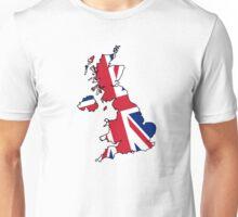 United Kingdom Map And Flag Unisex T-Shirt