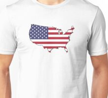 USA Map And Flag Unisex T-Shirt